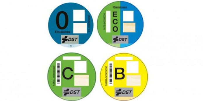 nuevas etiquetas de la DGT