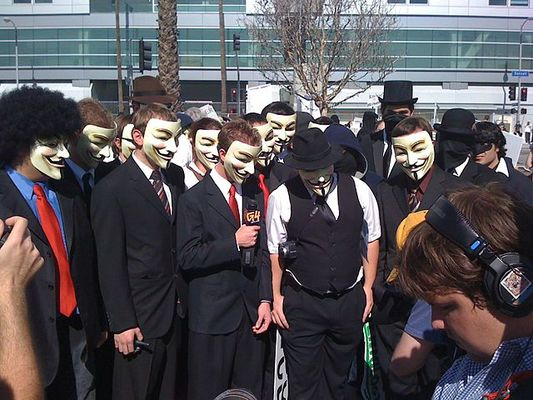 """CEDRO hackeo Anonymous protesta"""