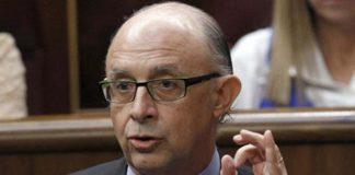 Cristobal Montoro, durante un Debate en el Senado. Imagen de Moncloa.