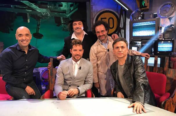 Cipri Quintas con algunos de sus amigos
