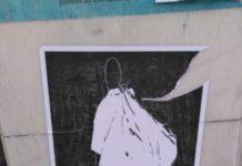 Cartel de Iniciativa Comunista, que culpa a la Policía de la muerte del 'mantero'.