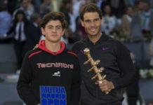 Jaime Caldés y Rafael Nadal, en el pasado Mutua Madrid Open Sub16.