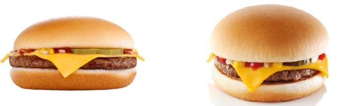 calorias hamburguesa mcdonalds 1 euro
