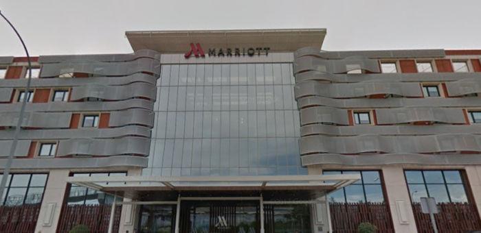 Fachada del hotel Marriot, en la carretera de Barcelona.