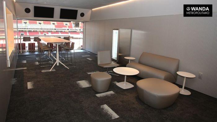 Aspecto de uno de los palco vip del Wanda Metropolitano.