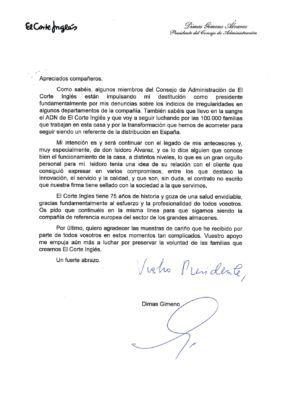 Carta de Dimas Gimeno