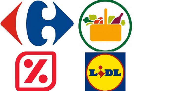 Carrefour Mercadona Lidl DIA