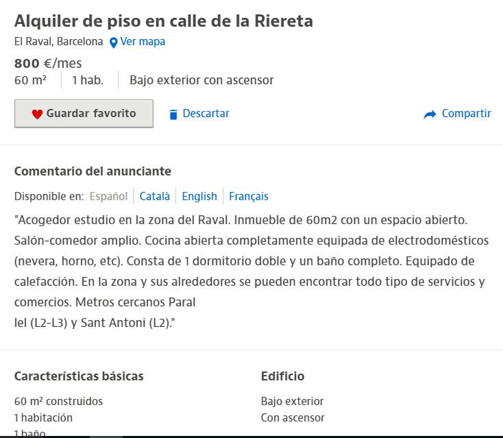 Vivir en Madrid o Barcelona es imposible y Calviño lo sabe.