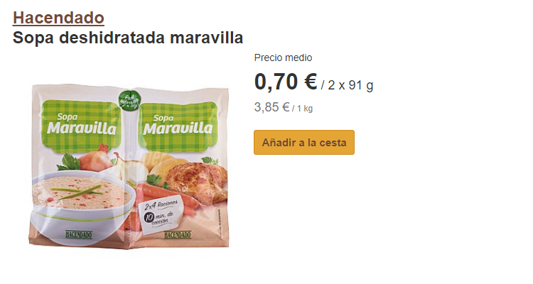 Mercadona y Carrefour