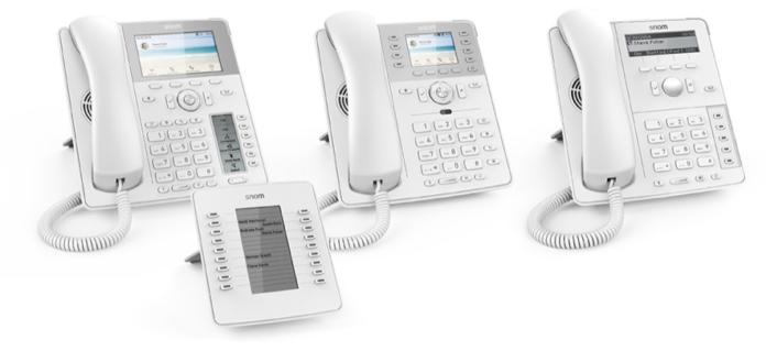 Foto de Los nuevos teléfonos IP blancos de Snom