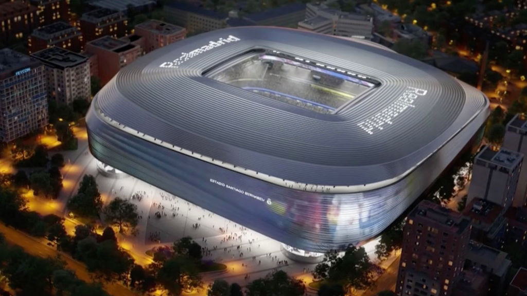 El Bernabéu utiliza una tecnología pionera para acabar a tiempo las obras