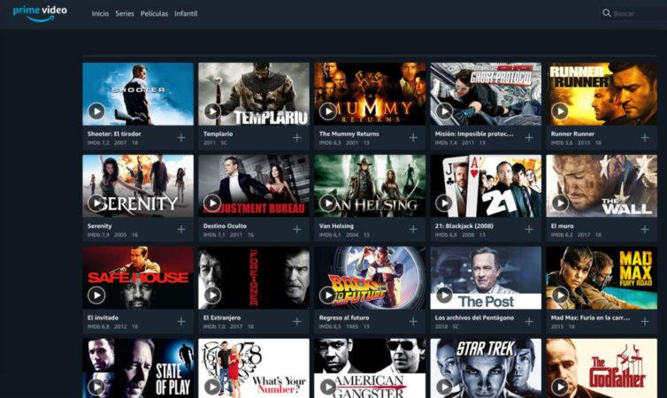 Catálogo de Amazon Prime Video