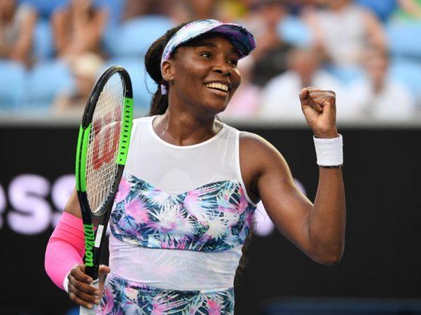 Venus Williams en un partido