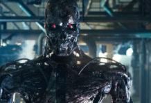 Robot de la película de cine Terminator