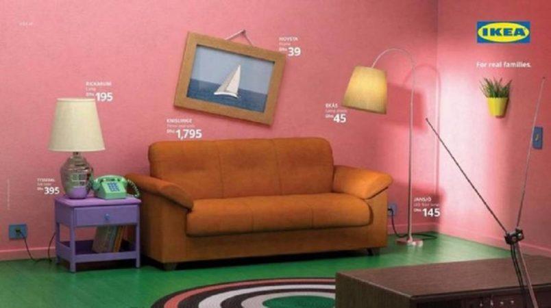 Ikea sorprende con su versión del salón de Los Simpsons