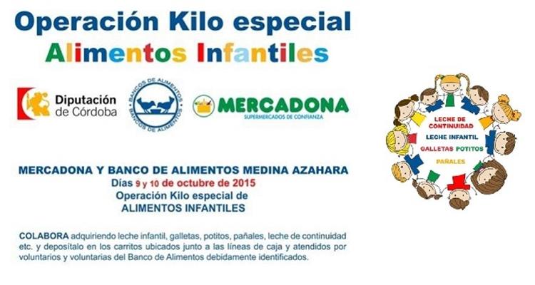 Mercadona en Córdoba para recoger alimentos infantiles