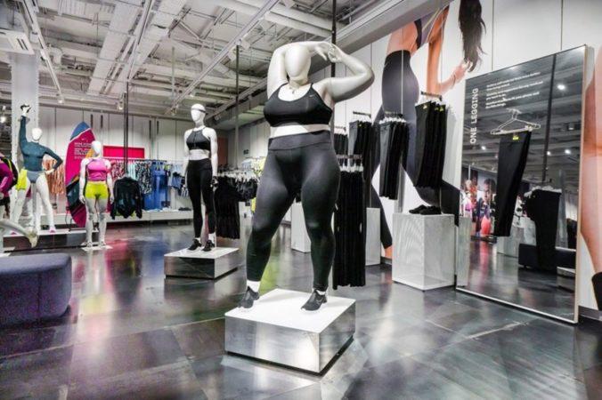 Maniquí en tienda Nike
