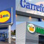 Lidl, Carrefour, Mercadona
