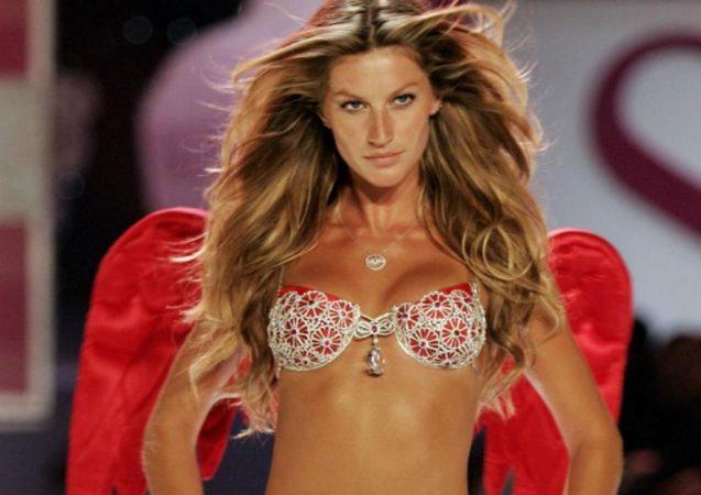 Heidi Klum posando para Victoria's Secret