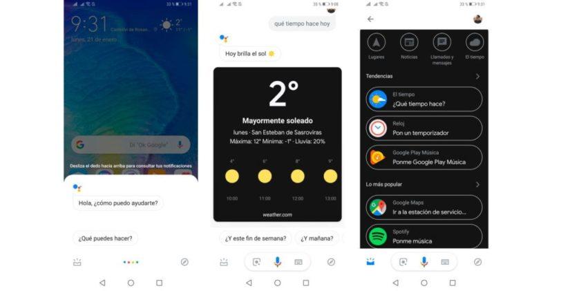 Google Assistant con modo oscuro