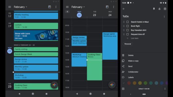 Google Android con Modo Oscuro