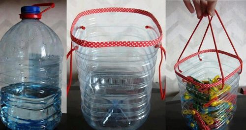 reciclaje de garrafa de plástico