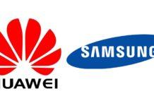 Logos de Huawei y Samsung
