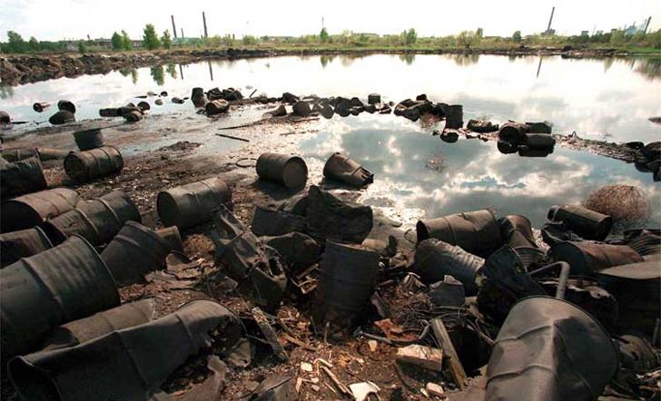 Dzerzhinsk, lago contaminado en Rusia, lugares de turismo oscuro