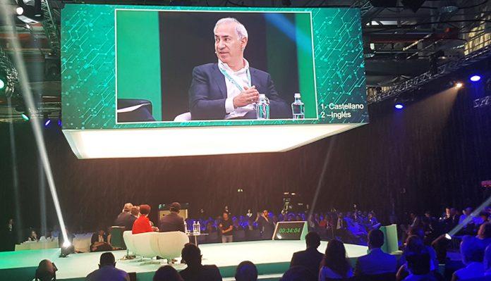 El CEO de Vodafone durante el evento