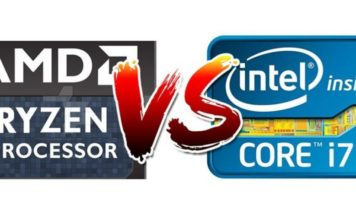 AMD Ryzen vs Intel Core (logos)