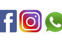 Logos de Facebook, Instagram y Whatsapp