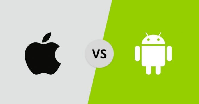 Logos de iOS vs Android