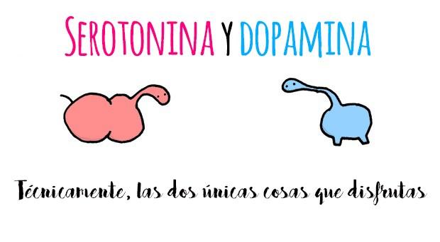 serotonina y dopamina que son