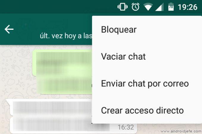 Bloquear usuario WhatsApp