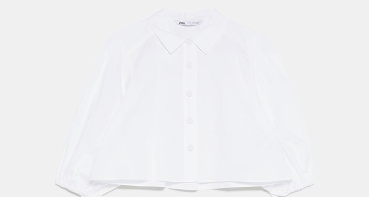 La camisa blanca con estilo Zara
