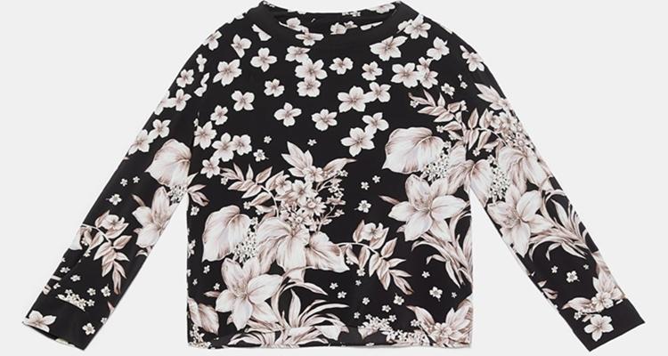 La camisa tendencia de estampado de flores de Zara