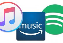 Iconos de Spotify, Amazon y Apple