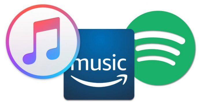 Iconos de Spotify, Amazon y Apple curarentena coronavirus