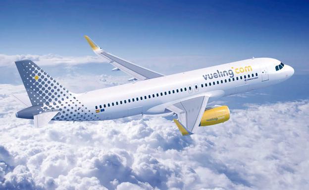 Avión de Vueling, menos puntual