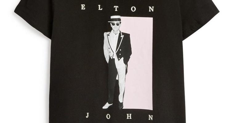 Camiseta de Elton John para chicas