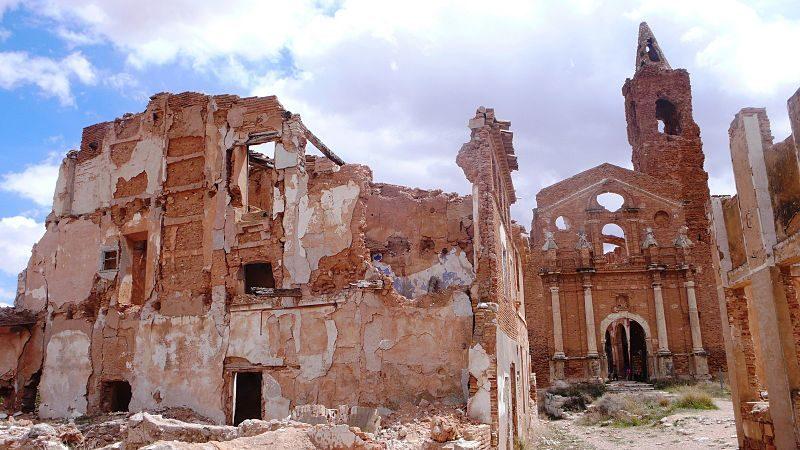 Pueblo viejo de Belchite, España