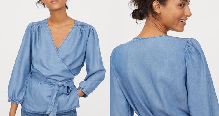 Blusa cruzada de H&M