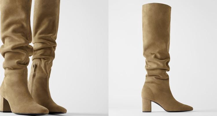 Botas slouchy de Zara