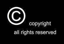 Copyright teclado todos los derechos reservados