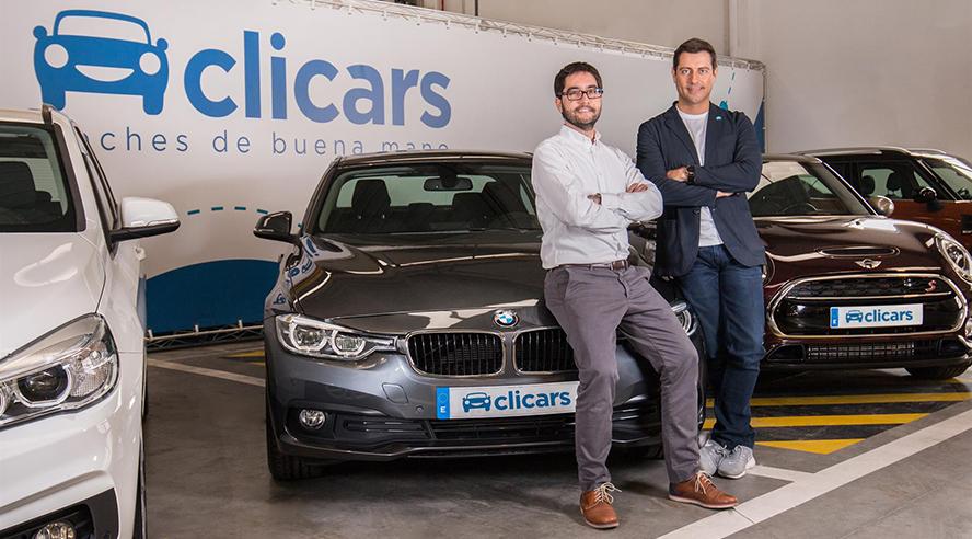 Clicars el amazon de la compra venta de coches Carlos Rivera y Pablo Fernández