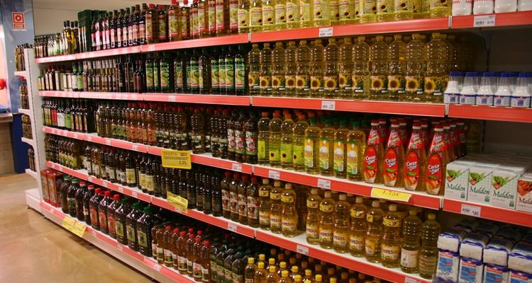 Aceite de oliva de Alcampo en garrafa