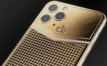 iPhone 11 Pro Max de oro y diamantes