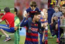 Hijos futbolistas Messi, Piqué, Luis Suárez
