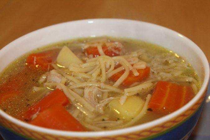 sopa para la gripe
