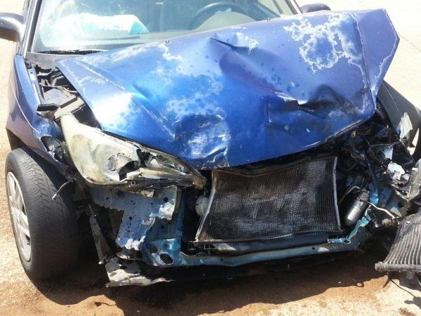 Accidente coche Uber